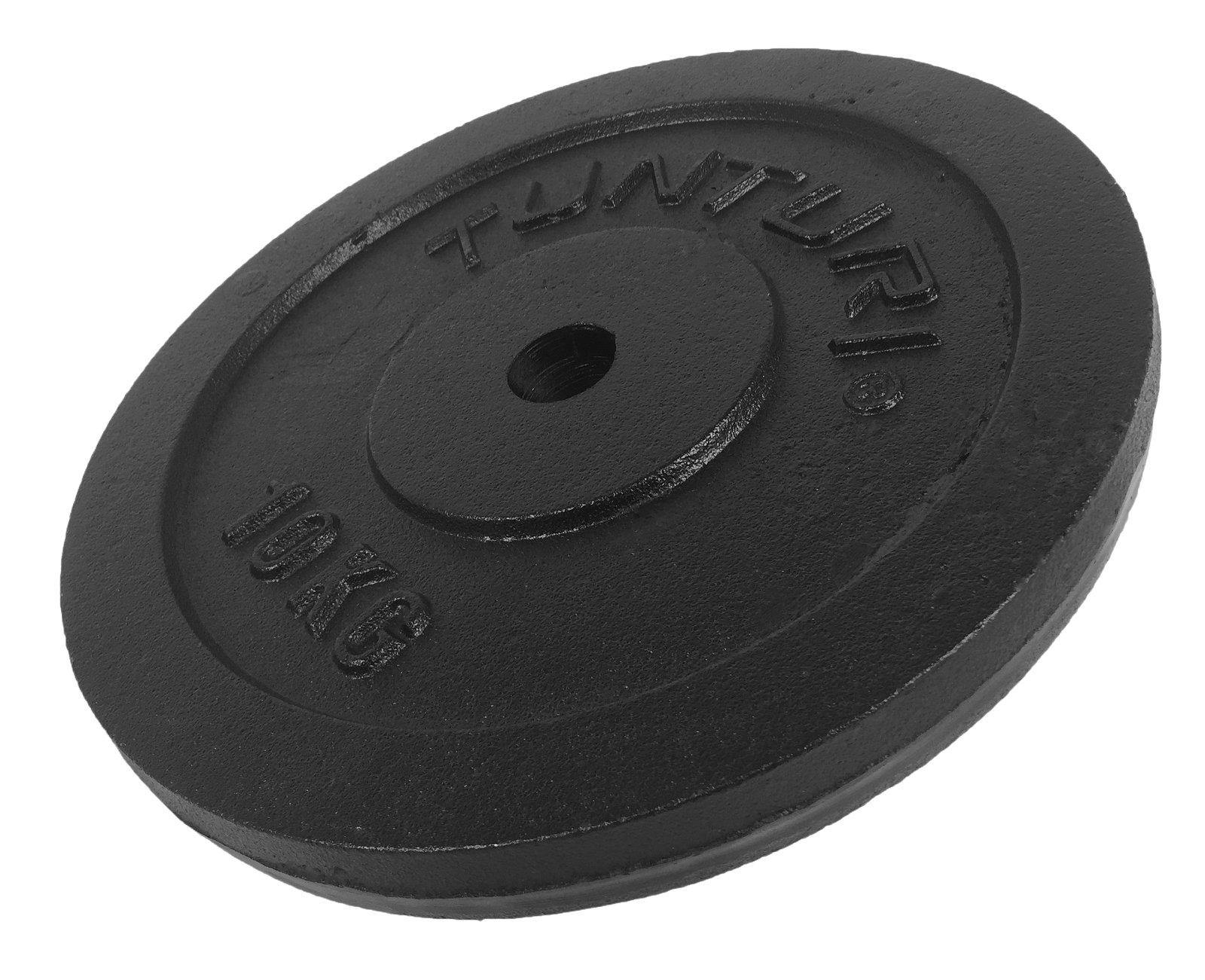 Tunturi Plate Black 10kg, Single