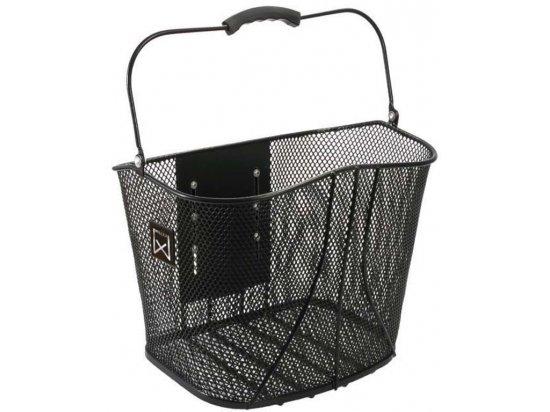 Metalen mand met locksysteem - Zwart