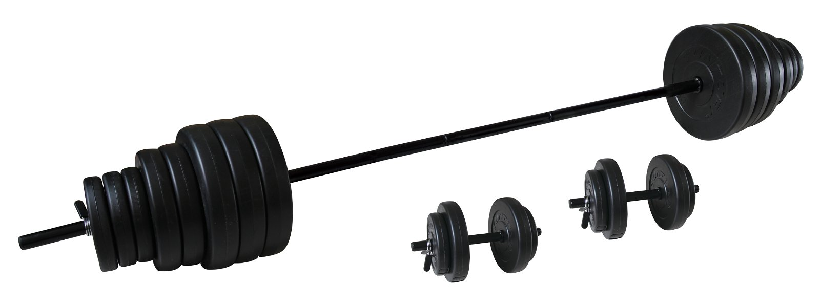 Tunturi Vinyl Barbell/Dumbbell Set 50Kg